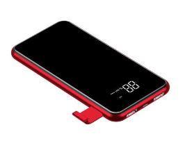 Baseus PPALL-EX Full Screen Bracket Wireless Charger Power Bank 8000mAh-Red
