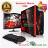 Intel® Dual Core RAM 4GB HDD 500GB Graphics 2GB Built in and Monitor 19'' Gaming PC Windows 10