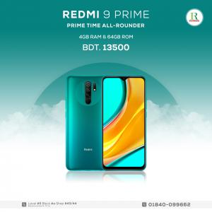 Redmi 9 Prime 4/64GB price in bangladesh