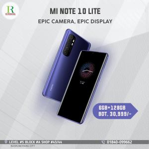 Xiaomi Mi Note 10 Lite 6+128. price in bangladesh