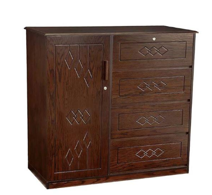 Oak Veneer Processed Wood Wardrobe MF-W-WDH-003.