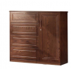 Oak Veneer Processed Wood Wardrobe MF-W-WDH-002.