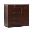 Oak Veneer Processed Wood Wardrobe MF-W-WDH-001.