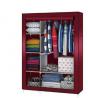 Portable Stainless Steel & Fabric Storage Wardrobe.