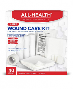 All Health Wound Care Kit, 40 Items | For Small to Medium Sized Wounds