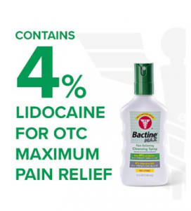 Bactine Max Pain Relieving Cleansing Spray, Maximum Strength First Aid Pain Relief + Antiseptic Spra