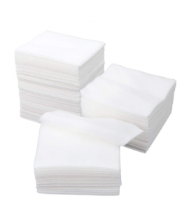PRETYZOOM 100 pcs Non-Woven Gauze Handkerchief Face Cleaning Towel Droplet Filtration for Wound Care