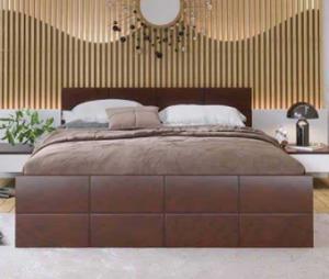 Regal Wooden Double Bed BDH-305