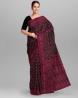 Black Flower & Leaf Work Jamdani Design Tangail Saree - SSE01
