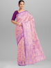 Cotton Jamdani Design Light Pink Saree with Blouse Piece - SRH262