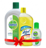 Dettol Antiseptic Liquid 500ml + Lizol Floor Cleaner 500ml + Dettol Instant Hand Sanitizer 50ml Comb