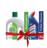 Dettol Antiseptic Liquid Brown 750ml & Harpic Toilet Cleaning Liquid 1 L Combo