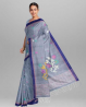 Handloom & Handwork Jamdani Design Cotton Saree - SI06