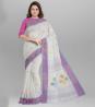 Handwork Flower Par Jamdani Design Cotton Saree - SKV13