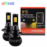 New 2pc Car led Fog lamps Double color LED DRL Fog Driving Light Bulbs 20W X5 2 models Small Size Wh