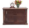 Oak Veneer Processed Wood Bed Side Table MF-W-BCH-003