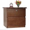 Oak Veneer Processed Wood Bed Side Table MF-W-BCH-002