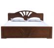 Oak Veneer Processed Wood Double Bed MF-W-BDH-003