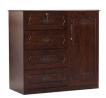 Oak Veneer Processed Wood Wardrobe MF-W-WDH-001