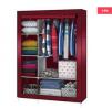 Portable Stainless Steel & Fabric Storage Wardrobe