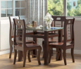 Regal Dining Set (4 Seat) - TDH-301 & CFD-303(4PCS)