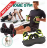 Revoflex Xtreme Double Wheels Ab Roller Pull Rope Abdominal Waist Slimming Exercise