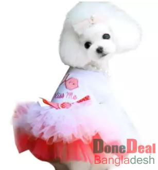 2019 New Pet Puppy Small Dog Cat Lace Skirt Princess Tutu Dress Clothes Costume L