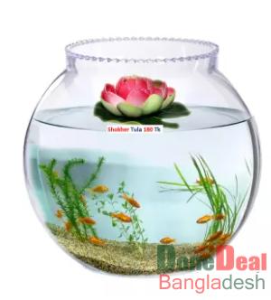 Aquarium Fish Tank Pond Simulation Floating Lotus Flower Ornament