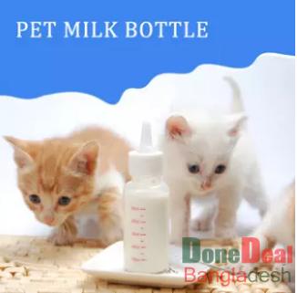 Newborn Pet Small Dog Puppy Cat Kitten Kitty Rabbit Milk Nursing Care Pup Milk Feeding Bottle Set Milk Feeder