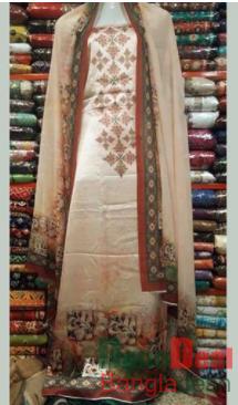 Shamu Silk Unstitched 3 Pieces Dress Set – MK48