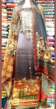 Shamu Silk Unstitched 3 Pieces Dress Set – MK43