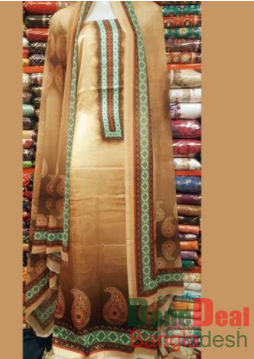 Shamu Silk Unstitched 3 Pieces Dress Set – MK40