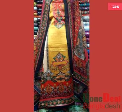 Shamu Silk Unstitched 3 Pieces Dress Set - MK39