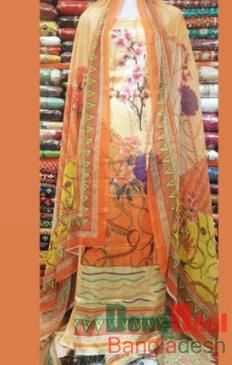 Shamu Silk Unstitched 3 Pieces Dress Set - MK38