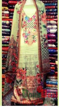 Shamu Silk Unstitched 3 Pieces Dress Set - MK36