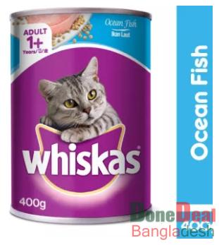 Whiskas Adult (Ocean Fish) Wet Can Cat Food (400g)