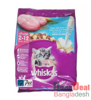Whiskas Junior Cat Day Food – Ocean Fish & Milk (450gm)