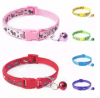 1pc Cat Dog Collar Bell Dot Print Delicate Safety Casual Nylon Dog Collar Neck Strap Fashion Adjusta