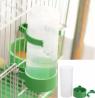 1pcs 140ml Bird water pot Pet Drinker Feeder Waterer Clip for Aviary Budgie Cockatiel Lovebird farmi