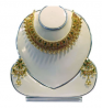 AD Champagne Stone Pearl Work Gold Plated Jewelry Set (BK 14)