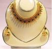 AD Panna Champagne Stone Necklace Set - BK 38