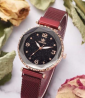 Alloy Quartz Wristwatch with 4 Pieces Bracelet for Women