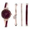 ANNE KLEIN Rose Gold-Tone & Burgundy Ladies Watch AK2716RBST