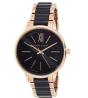 ANNE KLEIN Swarovski Crystal Accented Resin Bangle Watch AK/1412BKRG
