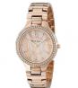 ANNE KLEIN Swarovski Crystal Accented Rose Gold-Tone Bracelet Watch AK/1854RMRG