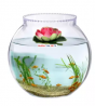 Aquarium Fish Tank Pond Simulation Floating Lotus Flower Ornament