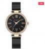 CURREN 9011 Mesh Stainless Steel Watch for Women – Black