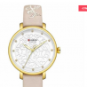 CURREN 9046 Leather Watch for Women – Gold White