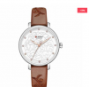 CURREN 9046 Leather Watch for Women - Brown