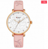 Dining SetCURREN 9046 Leather Watch for Women - Pink